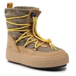 Moon Boot Sniego batai Moon Boot Mtrack Slip-On Sport 24400300002 Beige/Yellow