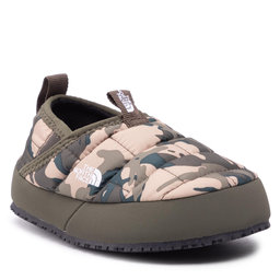 The North Face Naminės šlepetės The North Face Youth Thermoball Traction Mule II NF0A39UX28J1 New Taupe Green Explorer Camo Print/New Taupe Green