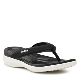 Crocs Šlepetės per pirštą Crocs Capri V Sporty Flip W 206780 Black