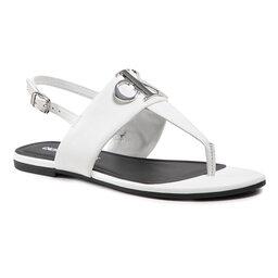 Calvin Klein Jeans Босоніжки Calvin Klein Jeans Flat Sandal Hw Lth YW0YW00145 Bright White YAF