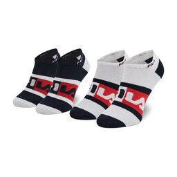 Fila Unisex trumpų kojinių komplektas (2 poros) Fila Calza Invisibile F9623 Red White Navy 754