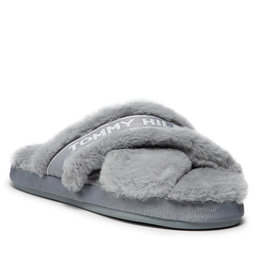 Tommy Hilfiger Naminės šlepetės Tommy Hilfiger Tommy Furry Home Slipper FW0FW06314 Steam Grey PN7