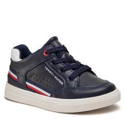Tommy Hilfiger Laisvalaikio batai Tommy Hilfiger Mid Cut Lace-Up Sneaker T1B4-32043-0621 S Blue/White X007