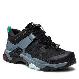 Salomon Трекінгові черевики Salomon X Ultra 4 Gtx W GORE-TEX 412896 23 V0 Black/Stormy Weather/Opal Blue