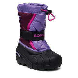 Sorel Sniego batai Sorel Childrens Flurry NC1965 Purple Dehila/Paisley Purple 562