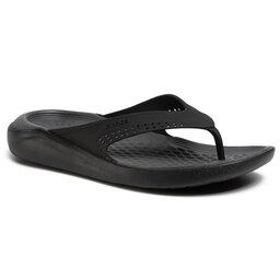 Crocs Šlepetės per pirštą Crocs Literide Flip 205182 Black/Slate Grey
