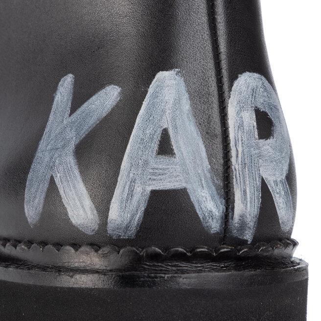 KARL LAGERFELD Черевики туристичні KARL LAGERFELD KL42850 Black Lthr