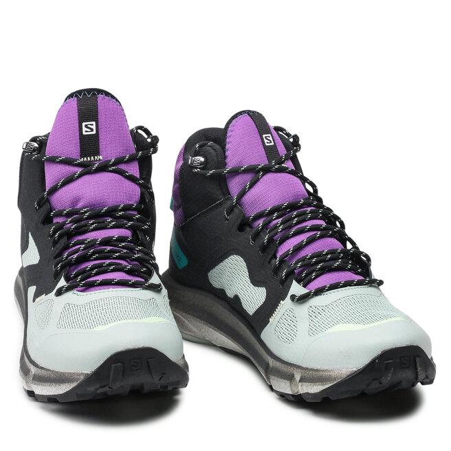 Salomon Трекінгові черевики Salomon Predict Hike Mid Gtx GORE-TEX 414610 27V0 Black/Aqua Gray/Royal Lilac