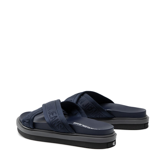 Calvin Klein Jeans Шльопанці Calvin Klein Jeans Flat Sandal Crisscross Pes YM0YM00069 NIght Sky CHW