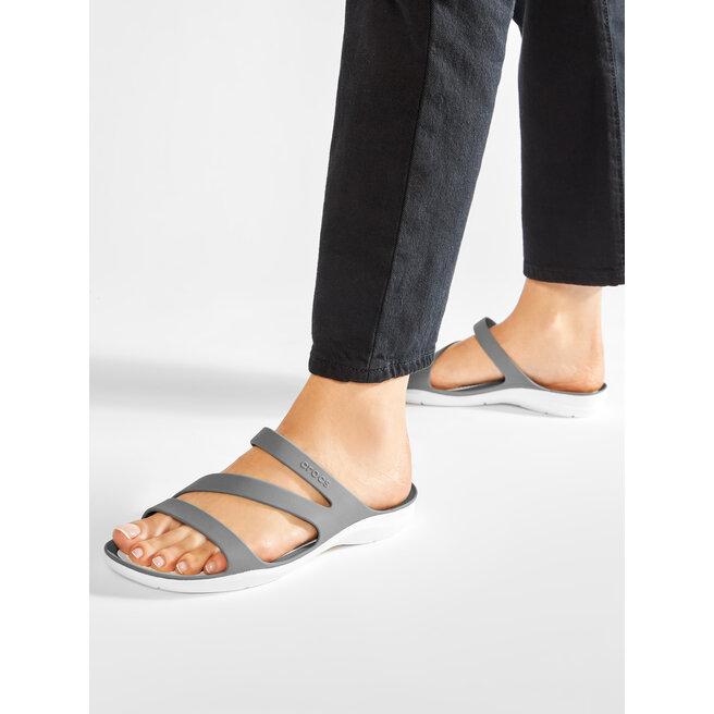 Crocs Шльопанці Crocs Swiftwater Sandal W 203998 Smoke/White