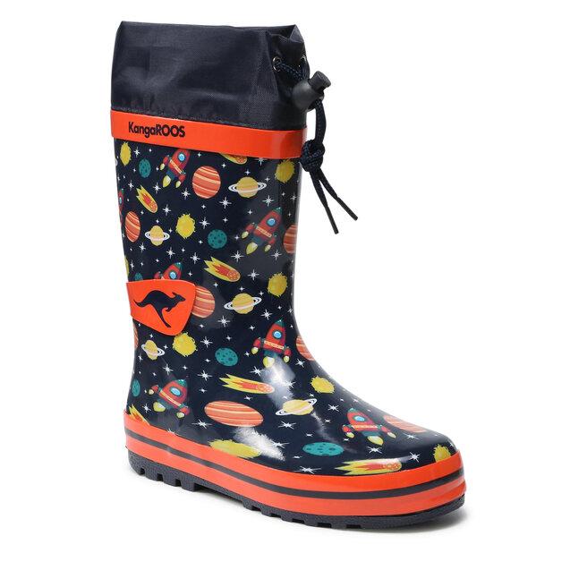 KangaRoos Гумові чоботи KangaRoos K-Rain 18244 000 4087 S Dk Navy/Space