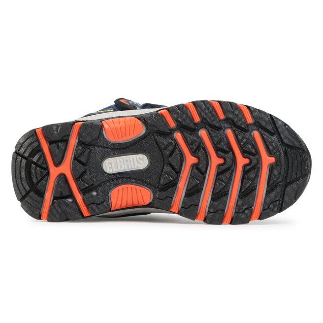 Elbrus Трекінгові черевики Elbrus Tamiko Mid Wp Jr Dark Navy/Navy/Orange