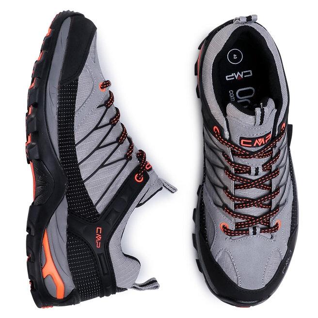 CMP Трекінгові черевики CMP Rigel Low Trekking Shoes Wp 3Q54457 Cemento/Nero 75UE